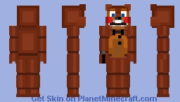 Toy Freddy Redo Minecraft Skin