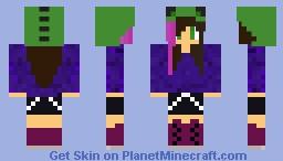 Dinosaur Girl Minecraft Skin