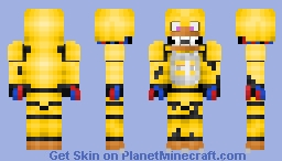 Withered Chica (better in 3D(FNAF 2)) Minecraft Skin
