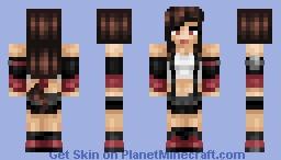 Tifa Lockhart Minecraft Skin