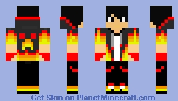 Minecraft Skin - Fire Boy Minecraft Skin
