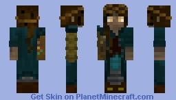 The lass with the gold eyes. Minecraft