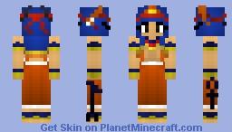 Hathor- Egyptian Goddess of Joy, Love and Motherhood Minecraft Skin
