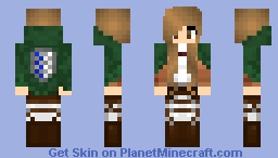 Brown-Eyed Attack on Titan Skin Minecraft Skin