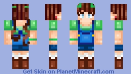 ♥˜Škittl隘♥- The Funny Green Farmer- ♥ Unicorn's Request ♥ Minecraft Skin
