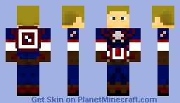 Captain America (Avengers: Age of Ultron) Minecraft Skin