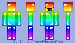 Minecraft Skin - Derpy rainbow