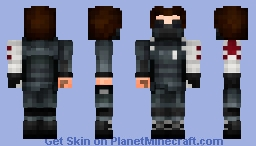 The Winter Soldier Minecraft Skin