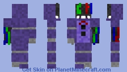 Withered Bonnie (Five Nights At Freddys) Minecraft Skin