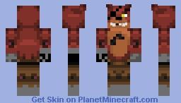 Foxy Five Nights At Freddys Minecraft Skin