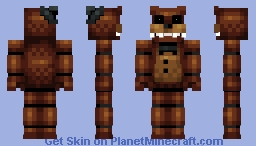 Freddy Fazbear (normal eyes in desc.) yey popularness reel Minecraft