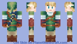 Link of Hyrule Minecraft Skin
