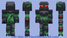Lizard Mech Soldier   +Alt Ranks Minecraft Skin
