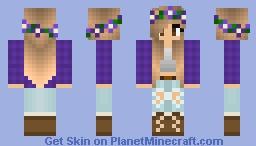 Minecraft Skin - Peace Girl Minecraft Skin