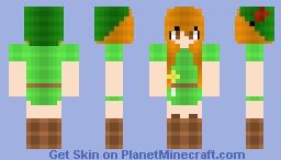Peter Pan Genderbended~! cx Minecraft Skin