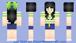 Wasabi Green Girl Minecraft Skin