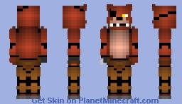 Foxy the pirate (skinny arms) Minecraft Skin