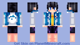Haruka - From that anime my sister likes (Free!) Minecraft Skin