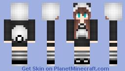 Panda (girl) Minecraft Skin