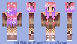 Burning snowflakes [OC] Minecraft Skin