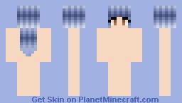 ~Blue~  Hair Upgrade!!!! Minecraft Skin