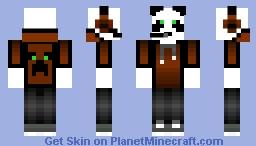 Leather Panda Man Minecraft Skin