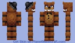 FNAF Freddy Fazbear Minecraft Skin - Skin para minecraft pe de freddy