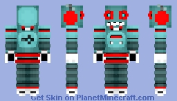 Rusty The Robot (Childhood Heroes Skin Contest) (Much Better In 3D) (1.8 Only) (41st Place!) Minecraft
