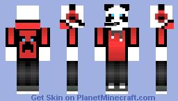 Redstone Panda Man Minecraft Skin