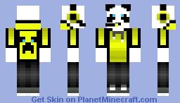 Golden Panda Man Minecraft Skin