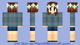 ƒℓσωєяƒℓσ | Skin Battle Friday | Completly Reshaded Minecraft Skin