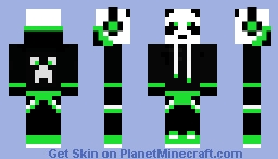 Green Music Panda Minecraft Skin