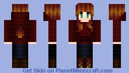 ~♥~ Fire Girl ~♥~ Minecraft Skin
