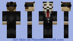 V for Vendetta Skin [Anonymous] Minecraft Skin