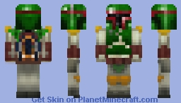 Boba Fett (with Accurate Helmet!) Minecraft Skin