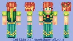 ✿๑ ▪ Fєℓiηкa ▪ ๑✿ ~ ♀ Frozen Fever: Anna. ♥ Minecraft Skin