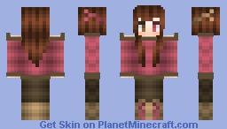 Pink n'brown little reindeer Minecraft Skin