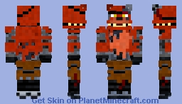 Withered Foxy The Pirate Fox Minecraft Skin - Skins para minecraft pe foxy