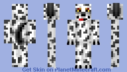 Floppy Eared Dalmatian Plushy Minecraft Skin