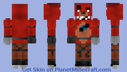 Foxy - Five Nights At Freddys - Withered Minecraft Skin