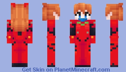 Neon Genesis Evangelion - Asuka Langley Soryu Minecraft Skin