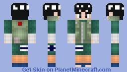 Rock Lee (ロック・リー): Shippuden Minecraft Skin