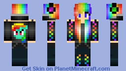 ROCKING Rainbow Dash Girl Minecraft Skin