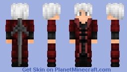 Dante: Devil My Cry (anime) Minecraft Skin