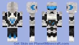Futuristic Robot Minecraft Skin