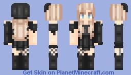 Oceanelle - Goth Dress Thing Minecraft Skin
