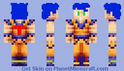 Tek_kit Goku Style Minecraft Skin