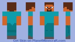 Smooth Steve Minecraft Skin