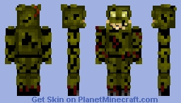What nightmare have i created this time. | Springtrap  | FNaF Series Minecraft Skin