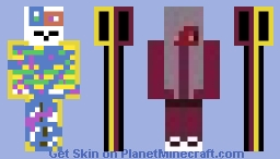 FIRST UGLY SKIN! Half goth half good girl Minecraft Skin